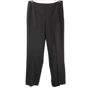 ESCADA Black with Red Pinstripe Wool Dress Pants